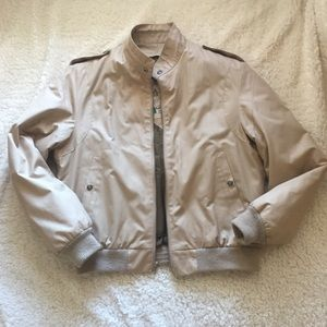 Vintage Tan Bomber Jacket with zip out lining